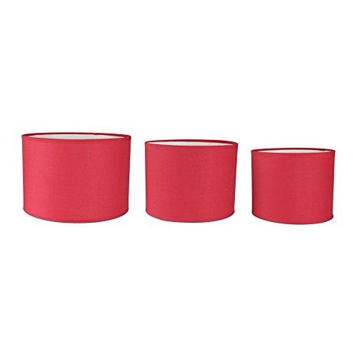 LUM&CO Lot de 3 pantalons cylindriques Rouge 25 x 21,3 x 25 cm