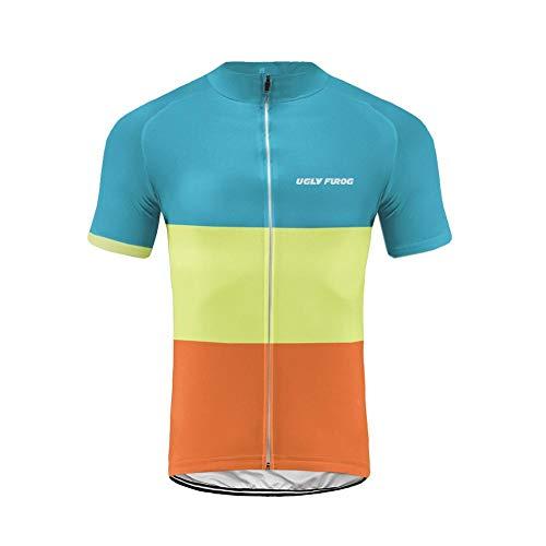 Uglyfrog Maillot Ciclismo Hombre Verano Maillot Bicicleta Montaña Bike MTB Camiseta con Mangas Cortas ShBL03