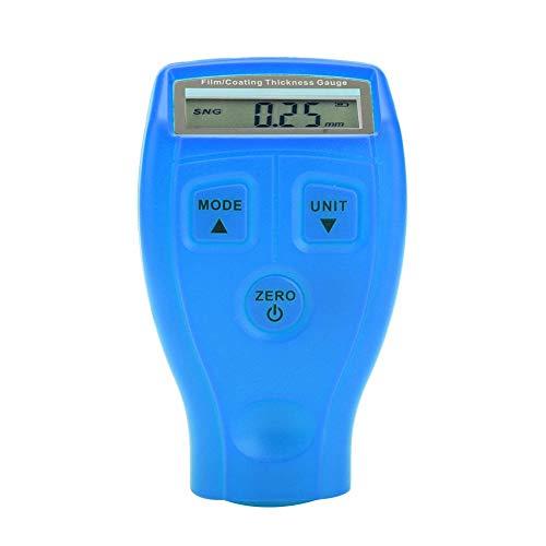 Mini Lackdickenmessgerät Professionelle Digitale Beschichtung Meter Gauge LCD Display Farbe Messen Tester Werkzeug Instrumente GM200 / GM200A (Blau)
