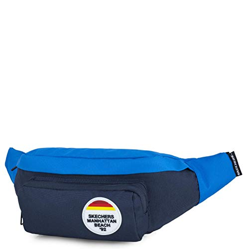 SKECHERS - Marsupio con cintura regolabile. Unisex. Grande capacità per cellulare, chiavi, occhiali. Viaggi, corsa, moto, ciclo, campeggio, shopping S911, Color Blu notte