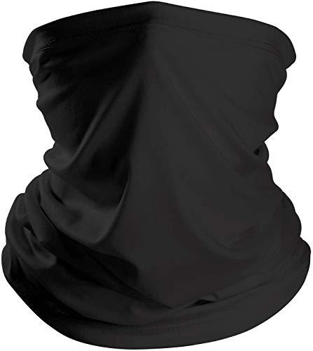 RHESHINE Multifunktionstuch Herren Schnelltrocknend Atmungsaktiv Weich Gesichtstuch Damen Super Elastisch Sonnenschutz Verschleißfest Schlauchschal Halstuch Maske für Motorrad Laufen Wandern Schwarz