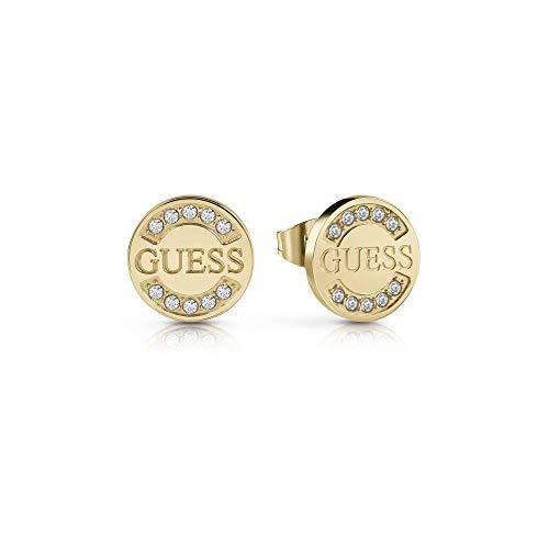 Guess Pendientes de botón Mujer chapado en oro - UBE28029