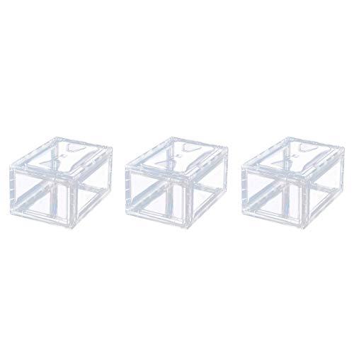 PUTAOYOU Caja de Almacenamiento de Zapatos apilable, Caja de Plata de plástico del Organizador de Zapatos para Mujeres, 38 cm * 26 cm * 20cm (Size : 3 PCS)