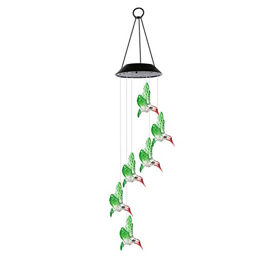 Crazyfly Wind Chimes, Solar String Lights, Color Changing LED Mobile Waterproof Outdoor Solar Lights for Home Yard