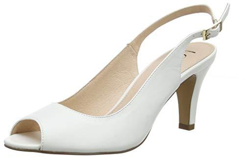 Lotus Zaria, Scarpe col Tacco con Cinturino Dietro la Caviglia Donna, Bianco (White WW), 40 EU