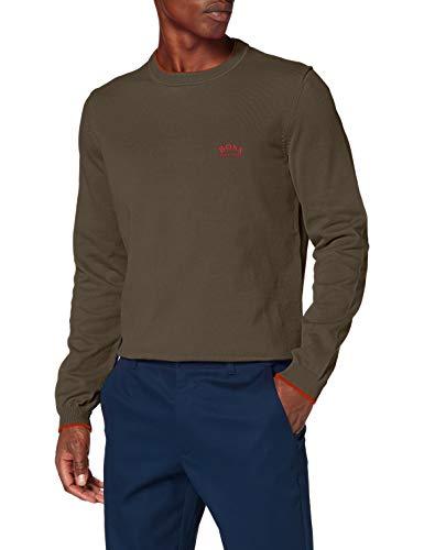 BOSS Mens Riston_W20 Sweater, Dark Green (305), 4XL