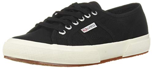 Superga womens 2750 Cotu Classic Sneaker, Black/White, 8.5 US