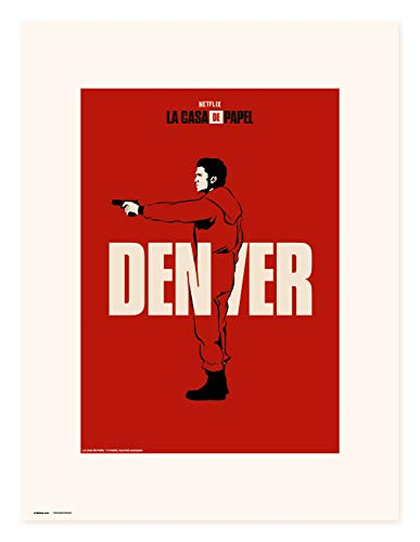 Erik Art Print | Impresión, La Casa de Papel Netflix, Denver, 30 x 40 cm