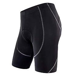 Sportneer Men's Cycling Shorts 4D Coolmax Padded Bike Bicycle Pants Tights, Breathable & Absorbent (S),Sportneer