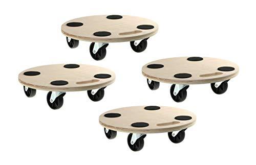 4 Stück Blumenroller Rollbrett Transportroller Fassroller Möbelroller 200kg Rund
