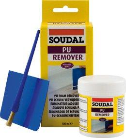 Removedor de espuma PU Soudal, removedor especial para endurecidos espuma de poliuretano, estaño: 100 ml