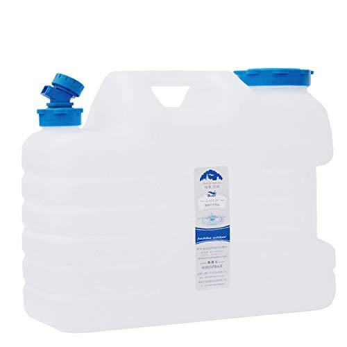 adad Campinggeschirr-Wasserkanister Wasserbehälter Mit Wasserhahn Tragbarer Wasserspeicher Campingwasserspeicher 11L 16L 19L 25L (Color : Clear, Size : 16L)