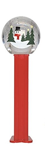 Pez Christmas Snow Globe Dispenser in Cello Package with 2 Rolls of...