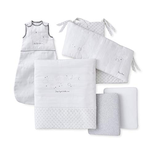 Silver Cross 5-Piece Sleep Tight Baby Bedding Set for Cot Bed and Crib (142 cm x 70 cm), Unisex