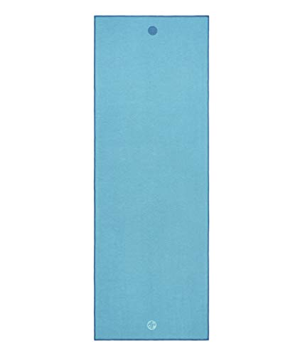 Yogitoes Yoga Mat Towel - Non Slip, Sweat Wicking with Patented Skidless Technology, Highly Absorbent, Soft and Sustainable Mat Towel for Yoga, Pilates, Gym and Outdoor Fitness, Turquoise, 68'