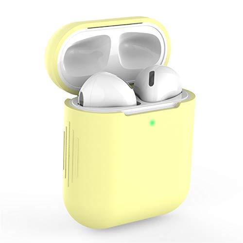 Cubierta de piel delgada para airopds 1 2 Auriculares inalámbricos Bluetooth de silicona para Airopds Funda para auriculares Accesorios Caja a prueba de gotas Caso Airops personalizado caso de las cáp