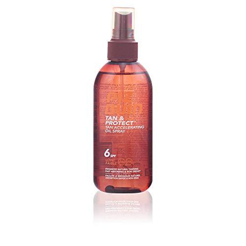 Piz Buin Tan & Protect - Aceite en Spray Acelerador del Bronceado SPF 15 Protección Media, 150 ml