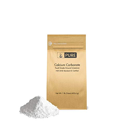 Pure Calcium Carbonate Powder (1 lb), Eco-Friendly Packaging, Dietary Supplement, Antacid, Food Preservative, More