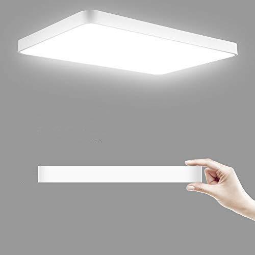 LED Deckenleuchte, 36W 3600LM Led Flurlampe 50x50cm, LED Deckenlampe, 3000K-6000K Dimmbar Quadrat Modern Schlafzimmer Küche Wohnzimmer Lampe für Balkon Flur Küche Wohnzimmer IP20[Energieklasse A+]