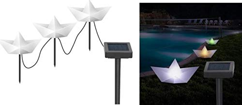 Gravidus set van 3 LED Solar Tuinstekkers papieren boot