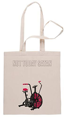 Rundi Not Today Satan Air Assault Bike Crossfit Shirt Bolsa De Compras Shopping Bag Beige