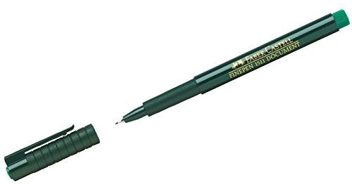Faber-Castell 151163 - Faserschreiber Finepen 1511, 0.4 mm, grün