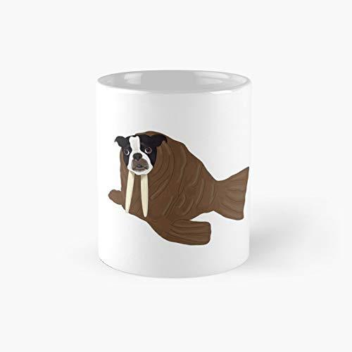 Taza clsica de perro de Halloween de Walrus   El mejor regalo divertidas tazas de caf de 11 onzas