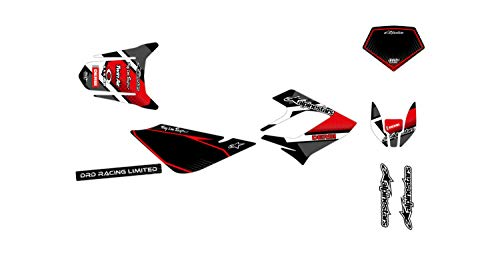 Kit de decoración para motocross Derbi DRD 50 Racing Comics Rojo 2004-2009