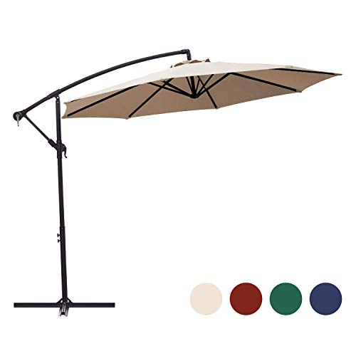 KINGYES Offset Cantilever Patio Umbrella – 10 ft.