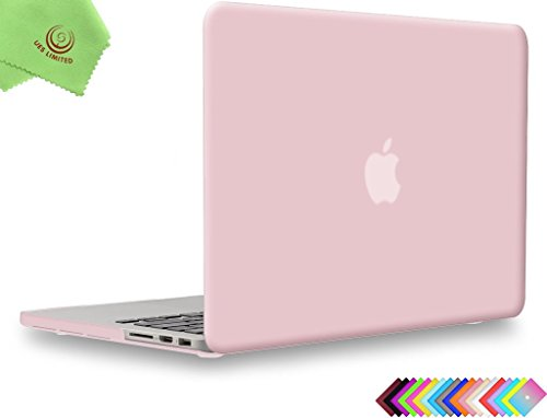 UESWILL Matte Hard Shell Case for MacBook Pro (Retina, 15-inch, Mid 2012/2013/2014/Mid 2015), Model A1398, NO CD-ROM, NO Touch Bar, Rose Quartz