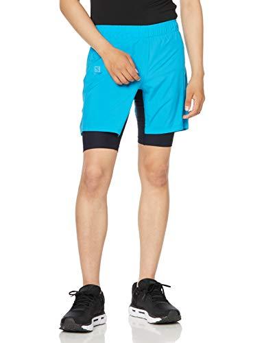 Salomon Herren Lauf-Shorts, AGILE TWINSKIN SHORT M, Polyester/Elastan, blau (vivid blue), Größe: M, LC1299500