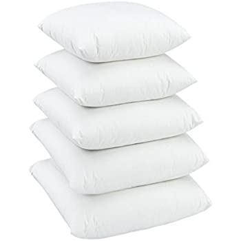 Dynamic Homes Microfiber Cushions Filler (16 x 16-inches, White) (Set of 5)