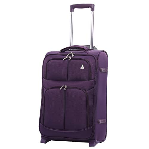 Maximum Allowance Airline Approved Delta United Southwest Carryon Suitcase (Plum)