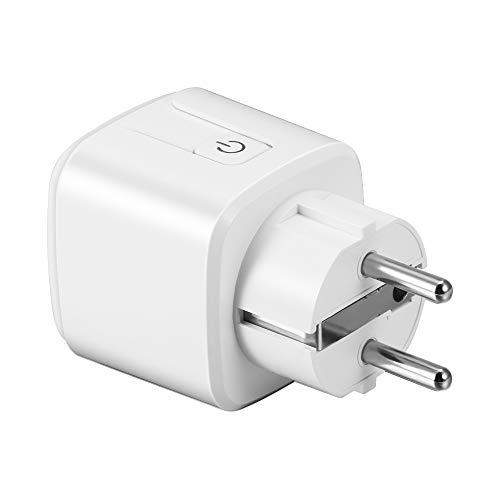 FreeLeben WIFI Enchufe Inteligente, 16A Smart Socket Funciona con Apple HomeKit, Smart WiFi Socket, Enchufe Inteligente Portátil con Control Inalámbrico e Interruptor de Encendido, 1 pack