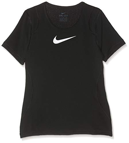 Nike G NP Top SS T-Shirt Femme, Noir (Black/White 010), FR : S (Taille Fabricant : S)