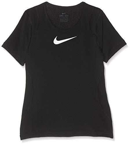 Nike Mädchen G NP TOP SS T-Shirt, Black/(White) (c/O), M