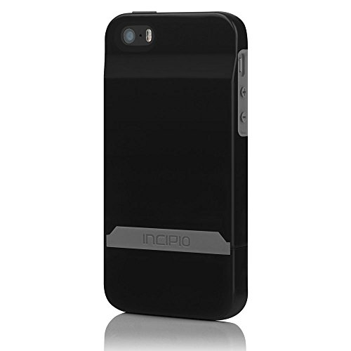 Incipio IPH-844 Stashback for iPhone 5-1 Pack - Retail Packaging - Black/Black