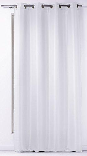 douceur d'intérieur rideau a oeillets 140x260 cm polyester punchy blanc