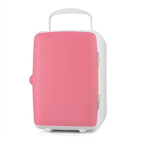 12V 4L tragbare Mini-Cooler, Kühlbox, Gefrierschrank, Kühlbox, Reise Heizung für Auto, Haus, Büro, im Freien Picknick, Reisen,Rosa