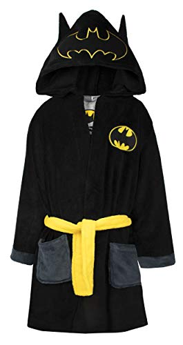 DC Comics Official Batman Kids Robe | Extra Soft Hooded Superhero Robe for...