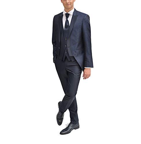 MMUGA Hochzeitsanzug Gehrock Herrenbekleidung dunkelblau 64