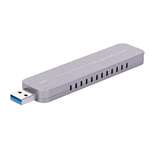 Gabinete SSD, Romacci USB 3.1 Tipo A/C para PCI-e NVMe M.2 SSD Placa de adaptador de gabinete de disco rígido portátil Plug & Play