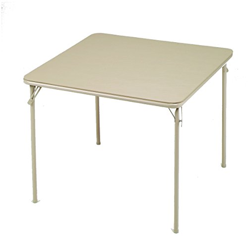 MECO Square Folding Table, 34 by 34-Inch, Buff