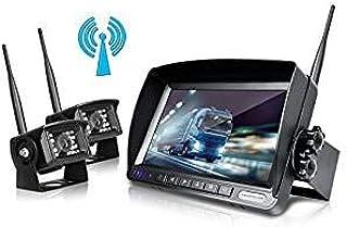 ZEROXCLUB Digital Wireless Backup Camera System Kit No Interference IP69 Waterproof Wireless Rear View Camera 7''Wireless ... photo