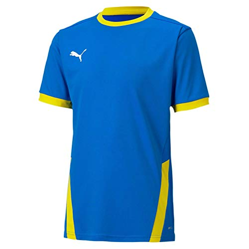 PUMA teamGOAL 23 Jersey jr T-Shirt, Electric Blue Lemonade-Cyber Yellow, 116