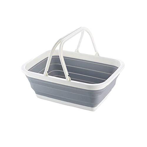 jiyuan Cesto de Ropa Plegable de Plástico, Cesto de Ropa Plegable Ovalado, Cesto de Ropa Plegable, para Cesta de la Compra, Cesta de Frutas, Cesta de Lavandería, Cesta de Baño
