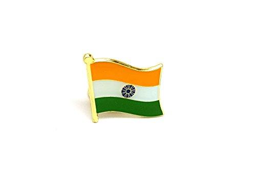 Shopiyal Anstecknadel mit Nationalflagge Indien, Emaille, hochwertige Metall-Emaille, Anstecknadel zum Sammeln von Schmuck, Hemd, Jacken, Mäntel, Krawatte, Hüte, Taschen, Rucksäcke