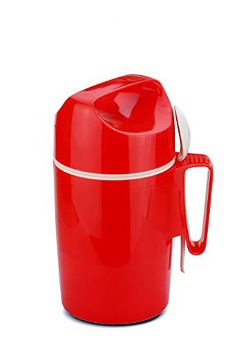 ROTPUNKT Isolier-Speisegefäss 850-0,85 l Warme Speisen einfach zum transportieren/Löffeleinsatz/Schraubverschluss/stoß- und bruchsicher/Outdoor (Crazy red)