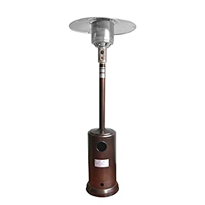 KimBird Patio Heater Propane Gas Portable Commercial Outdoor Heater Floor Standing with Wheels, Liquid Propane Patio Heater for Garden Wedding, Party (Stainless Steel/Spray Paint) (Spray Paint)