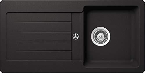 Schock Küchenspüle 86 x 43,5 cm Typos D-100S Nero - CRISTALITE Granitspüle ab 45 cm Unterschrank-Breite